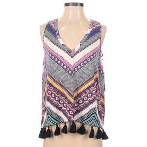 Tart Collections women's sleeveless top tassels